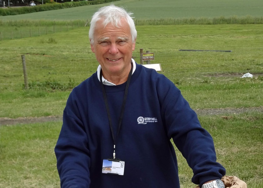 Dave Weatherson at the open day
